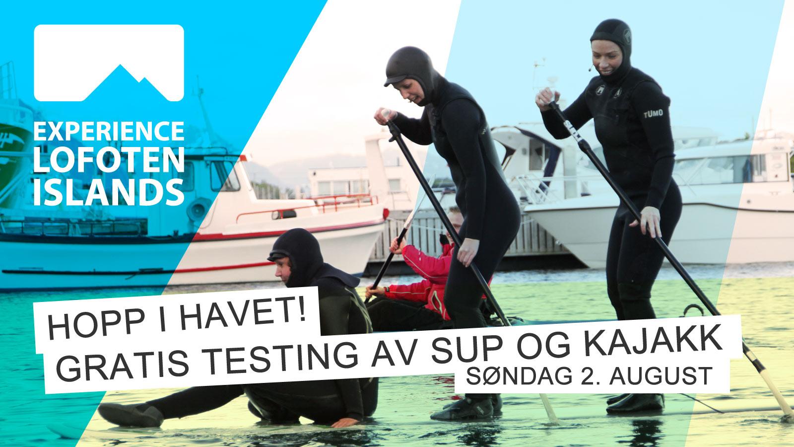 Grafikk: Gratis testing av SUP og kajakk! | Stamsund.no | Stamsund på Nett
